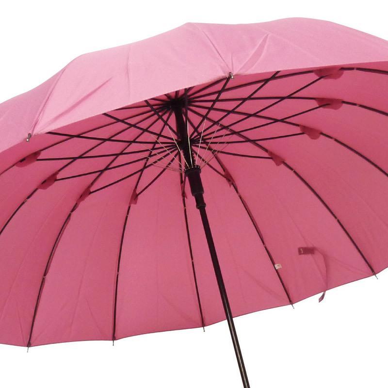 送料無料 長傘 60cm 16本骨 晴雨兼用 雨傘 婦人 紳士 レディース メンズ 和風傘 傘袋付き 雨に濡れると桜が浮き出る柄 通学 桜 和柄 通勤 ジャンプ式 ワンタッチ puick 03