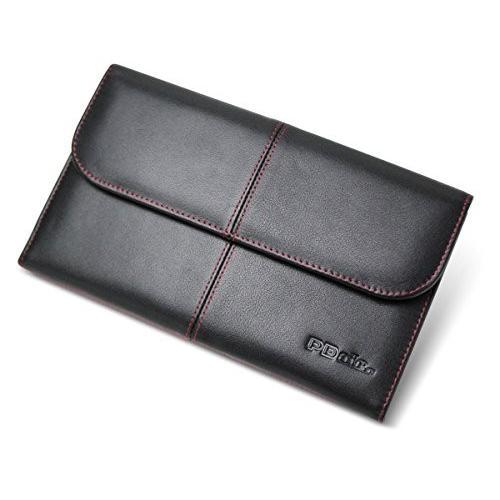 PDAIR レザーケース for GALAXY Tab S 8.4 ビジネスタイプ(ブラック/レッドステッチ) PALCGXTABS84BU/BL/R