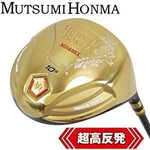 ムツミホンマ (Mutsumi Honma) ドライバー MH488X プレミアム チタンドライバー カーボン メンズ 右 ロフト角:10.5度 フレ