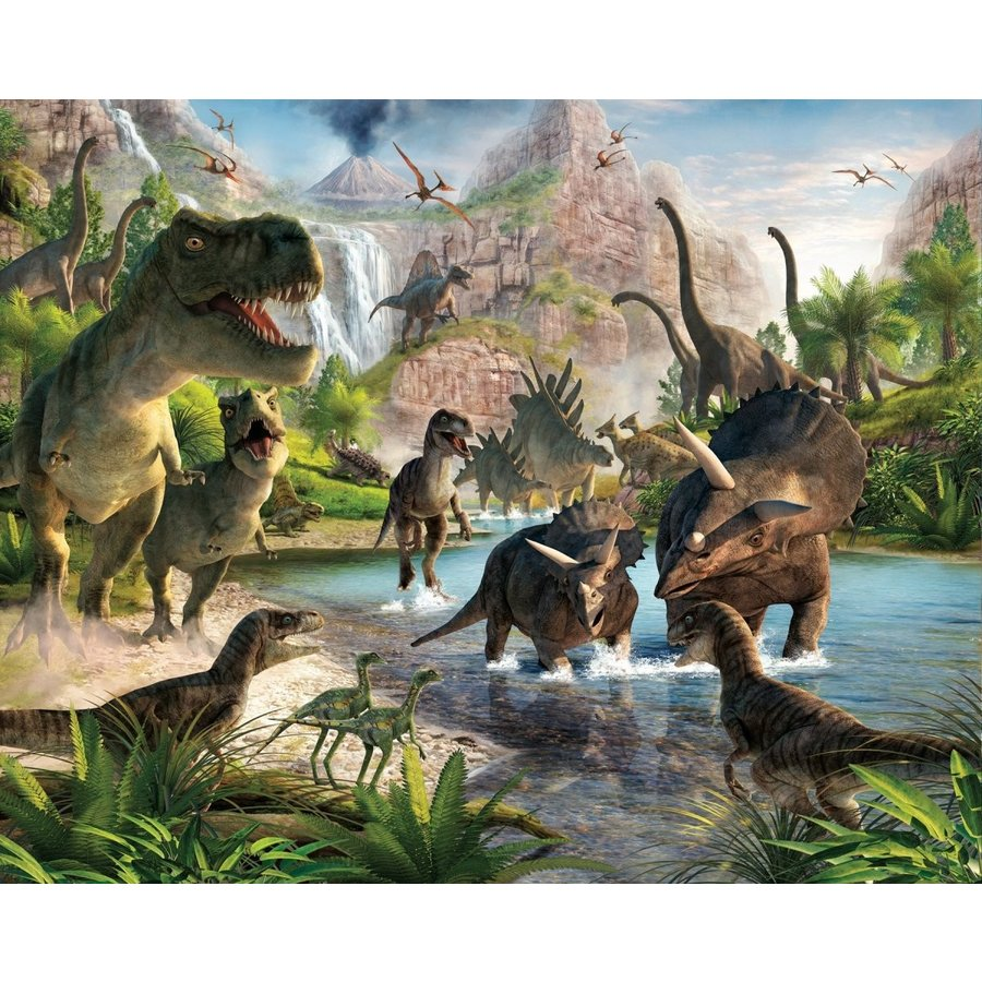 Walltastic Dinosaur Land Wallpaper Mural 8ft X 10ft By Walltastic
