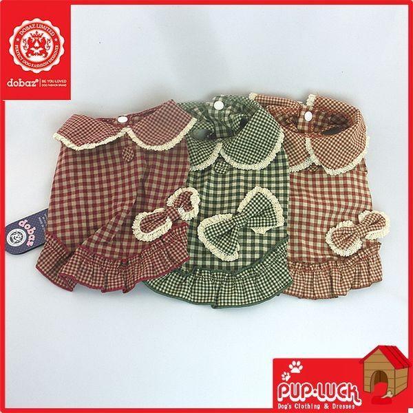 dobaz(ドバズ)/ギンガムチェックドレス/レッド,グリーン,コーヒー|pupluck|02
