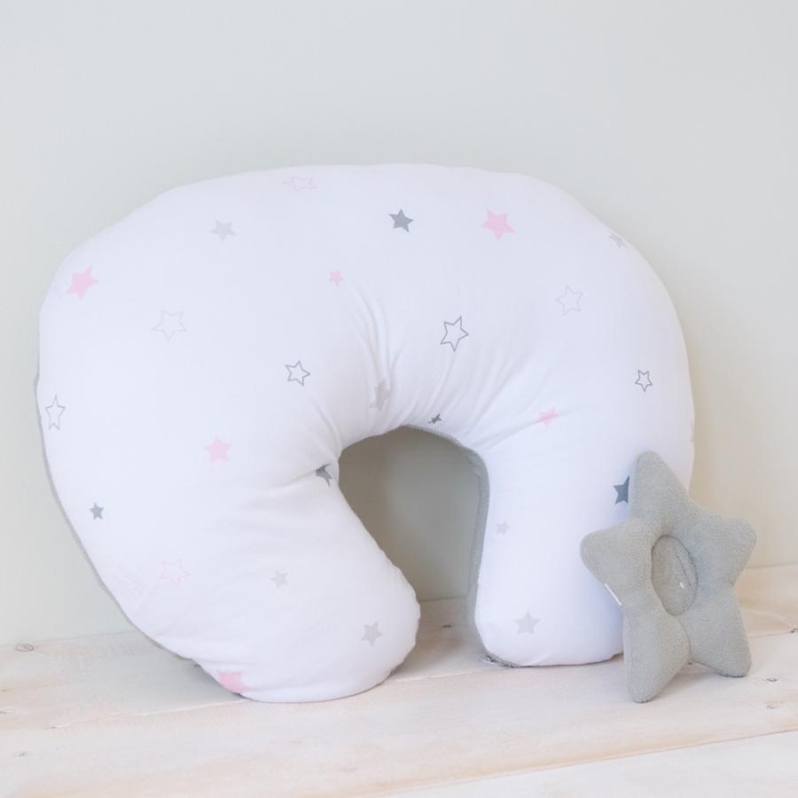 洗える 授乳クッション&サポート枕 トゥインクルスター 星柄 授乳 母乳 クッション 抱き枕 パパママクッション 腕枕 うでまくら|puppapupo|04