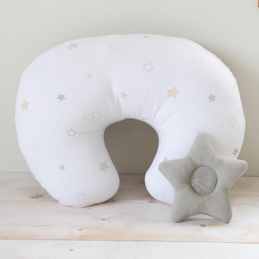 洗える 授乳クッション&サポート枕 トゥインクルスター 星柄 授乳 母乳 クッション 抱き枕 パパママクッション 腕枕 うでまくら|puppapupo|05