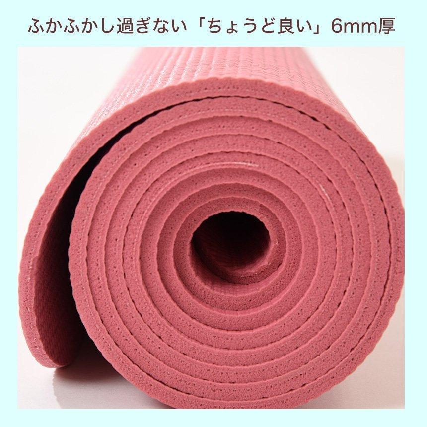 ヨガマット 軽量 ヨガワークス Yogaworks (6mm) 19SS ダイエット 持ち運び ビギナー 初心者 ピラティス 送料無料 puravida 13