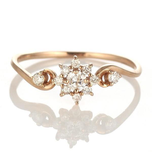 爆買い! ダイヤモンド指輪 ダイヤモンド リング ダイヤモンドリング 指輪 ピンクゴールド 安い, ウインターチューリップ a8aaf140