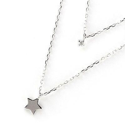 有名な高級ブランド ネックレス レディース 天然石 4月誕生石 K10ホワイトゴールド ダイヤモンド ペンダント ネックレス スター 星 安い, 大賢水産 35588200