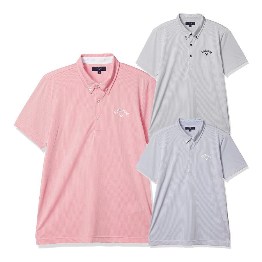 キャロウェイ コードレーン カラー半袖ポロシャツ 241-0134520 メンズ 通信販売 ボタンダウンシャツ 販売実績No.1