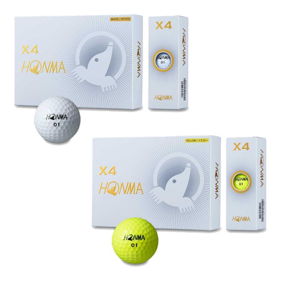 本間ゴルフ 爆売りセール開催中 HONMA X4 BT1906 1ダース 2020新作 ゴルフボール