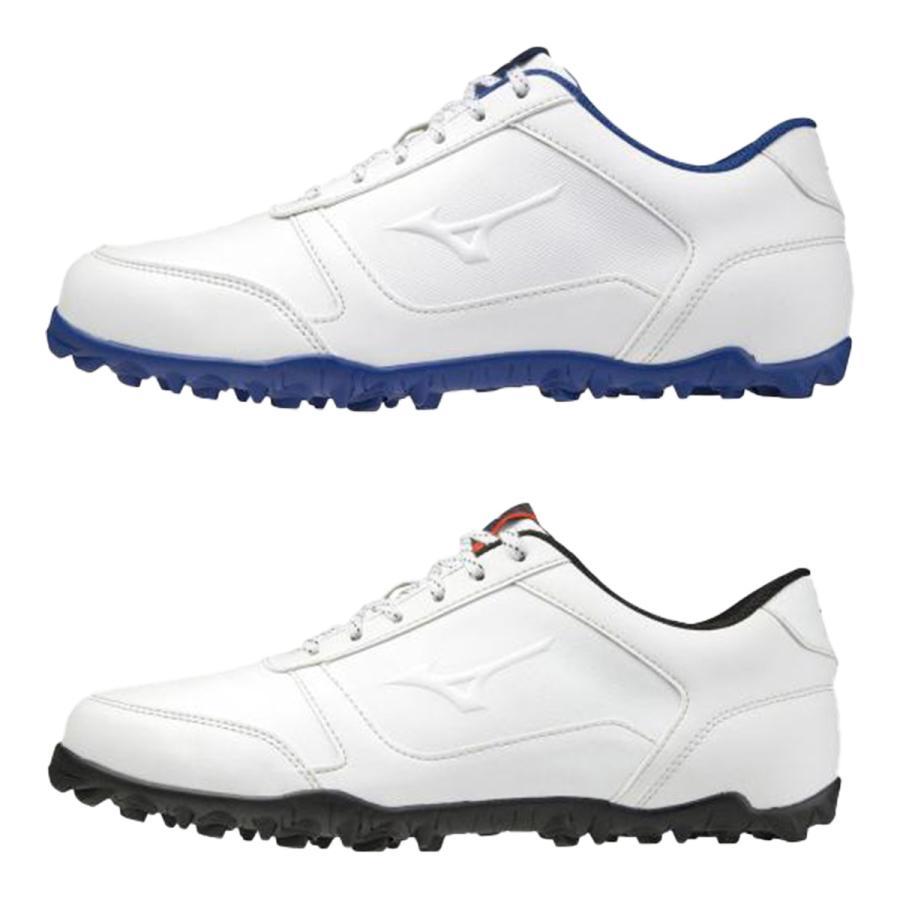 ミズノ ゴルフシューズ ワイドスタイルライトスパイクレス 4E相当 返品交換不可 安売り メンズ 51GQ2085