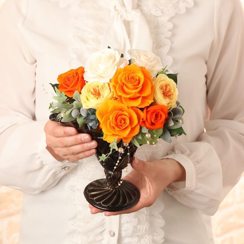 プリザーブドフラワー ギフト 誕生日 結婚 新築 引越し 送別 退職 開店 開業 母の日 送料無料 ロマーヌ purizasenka 06