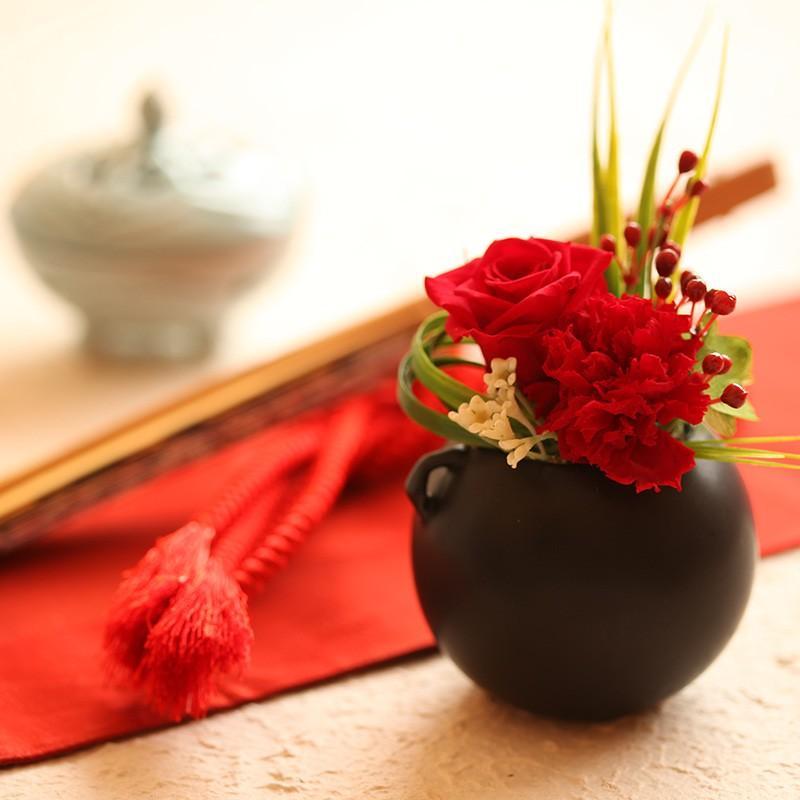 プリザーブドフラワー ギフト 誕生日 新築 引越し お正月 母の日 父の日 敬老の日 和風 実|purizasenka