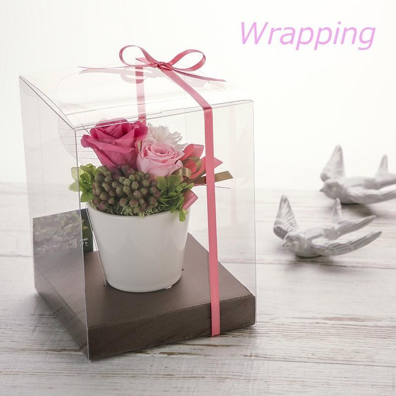プリザーブドフラワー 母の日 ギフト プレゼント 贈り物 お礼 結婚祝い 卒業祝い 出産 送別 退職祝い お見舞い 記念日 ウィッシュ|purizasenka|05