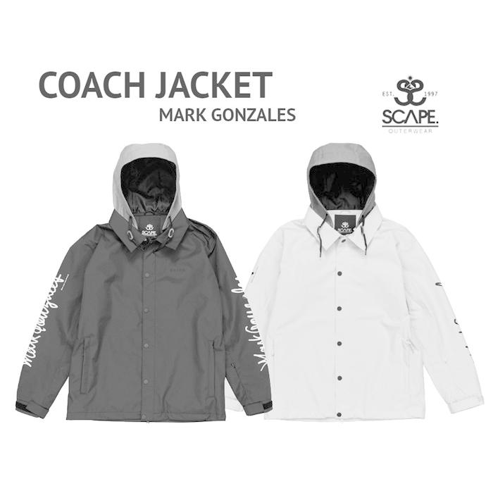 SCAPE スノーボード スノボ ウエア 2019-2020 SCAPE エスケープ COACH JACKET - MARK GONZALES