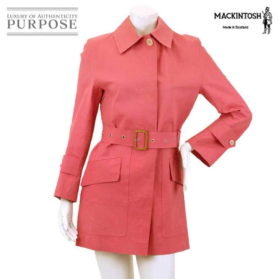 人気 マッキントッシュ MACKINTOSH ステンカラー コート ベルト付き ピンク サイズ 34 レディース, Deargo(ディアーゴ) be7e1081