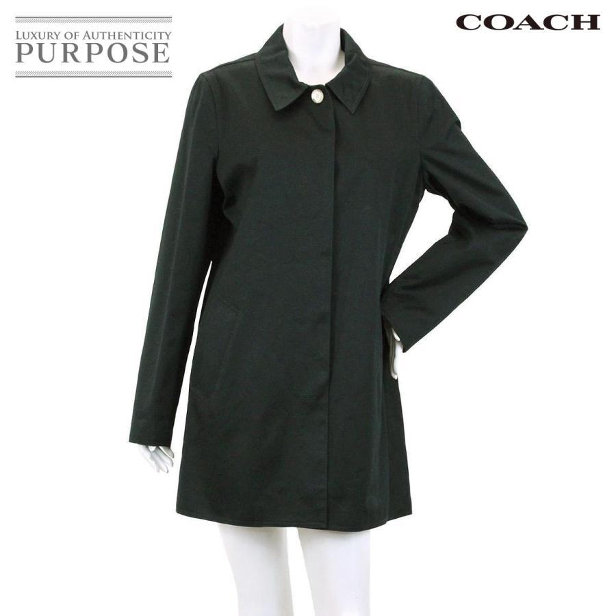 最高の コーチ COACH ステンカラー コート 長袖 アウター ミニシグネチャー 柄 ブラック M サイズ レディース, シモツチョウ 2d6e28f7