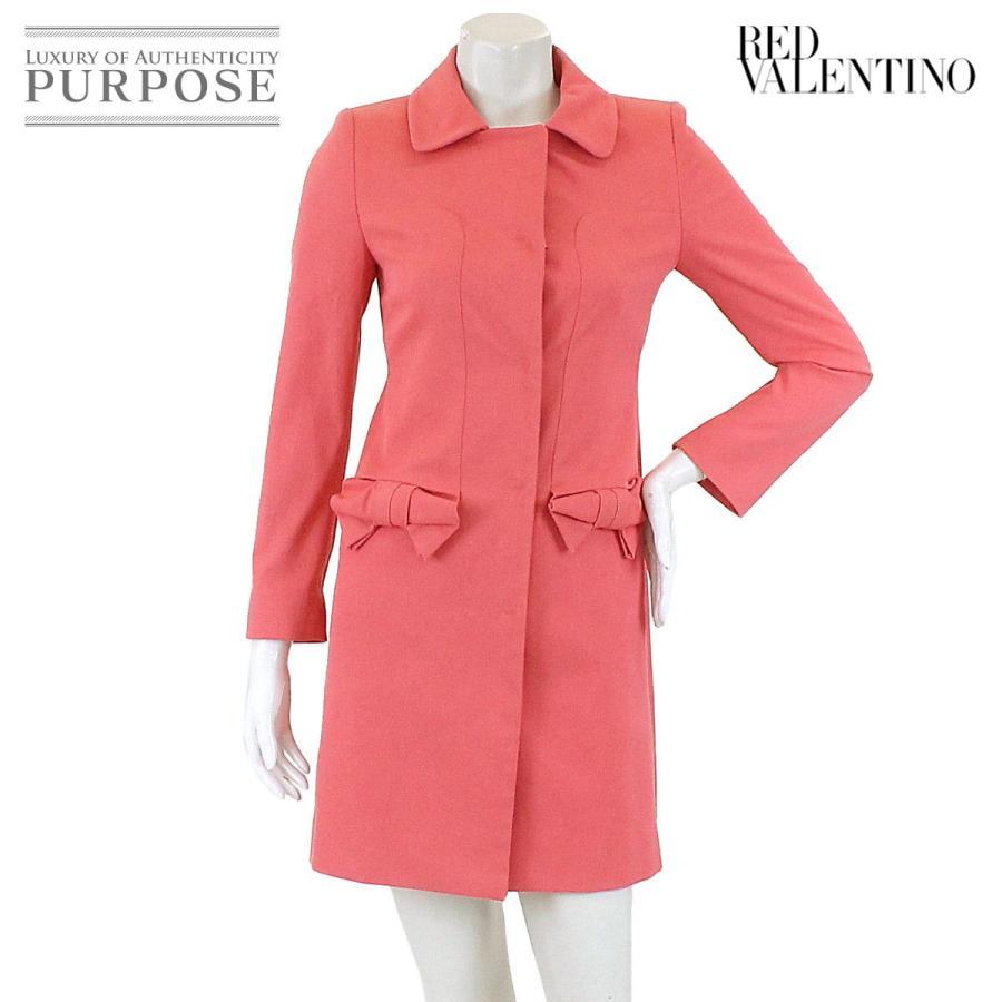 超安い レッドバレンチノ RED VALENTINO コート ステンカラー ロング リボン ピンク 40 サイズ レディース, 天津小湊町 608fa47e