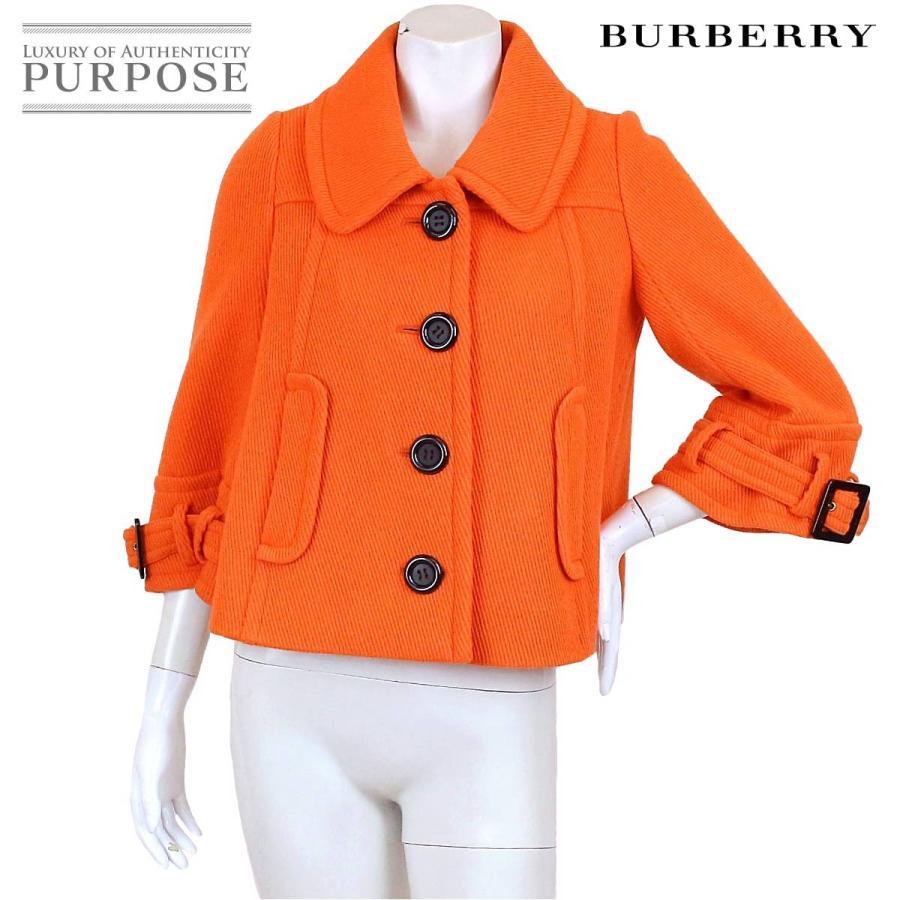 史上最も激安 バーバリー ブルーレーベル BURBERRY BLUE LABEL ステンカラー コート ショート丈 オレンジ サイズ 38 レディース, いっつここ 05dd4a58