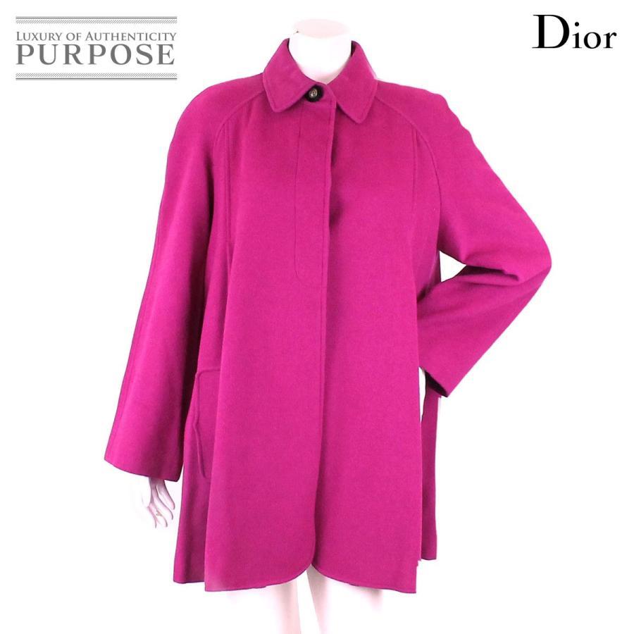 新着 クリスチャン ディオール Christian Dior コート オーバーサイズ ウール ピンク サイズ M レディース, I-SHOP「Y」 カシミヤニット 1971610c