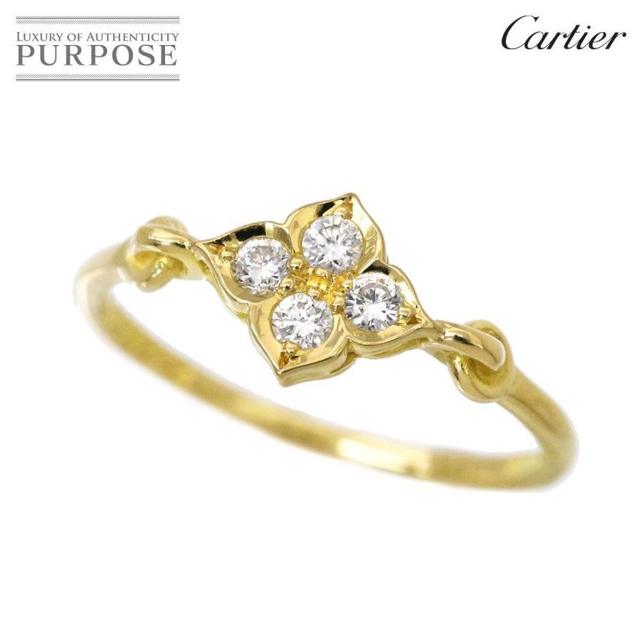 【限定特価】 カルティエ リング Cartier ヒンドゥ ダイヤ リング 指輪 #49 K18YG Cartier 18金 750 指輪, ビックフット ネット事業部:e980dd64 --- airmodconsu.dominiotemporario.com