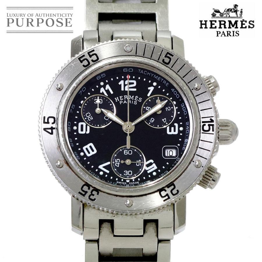 新品即決 エルメス HERMES クリッパー ダイバー クロノグラフ CL2 310 レディース 腕時計 デイト ブラック 文字盤 クォーツ ウォッチ, ジュエリーラピネス 5f4b5cb0