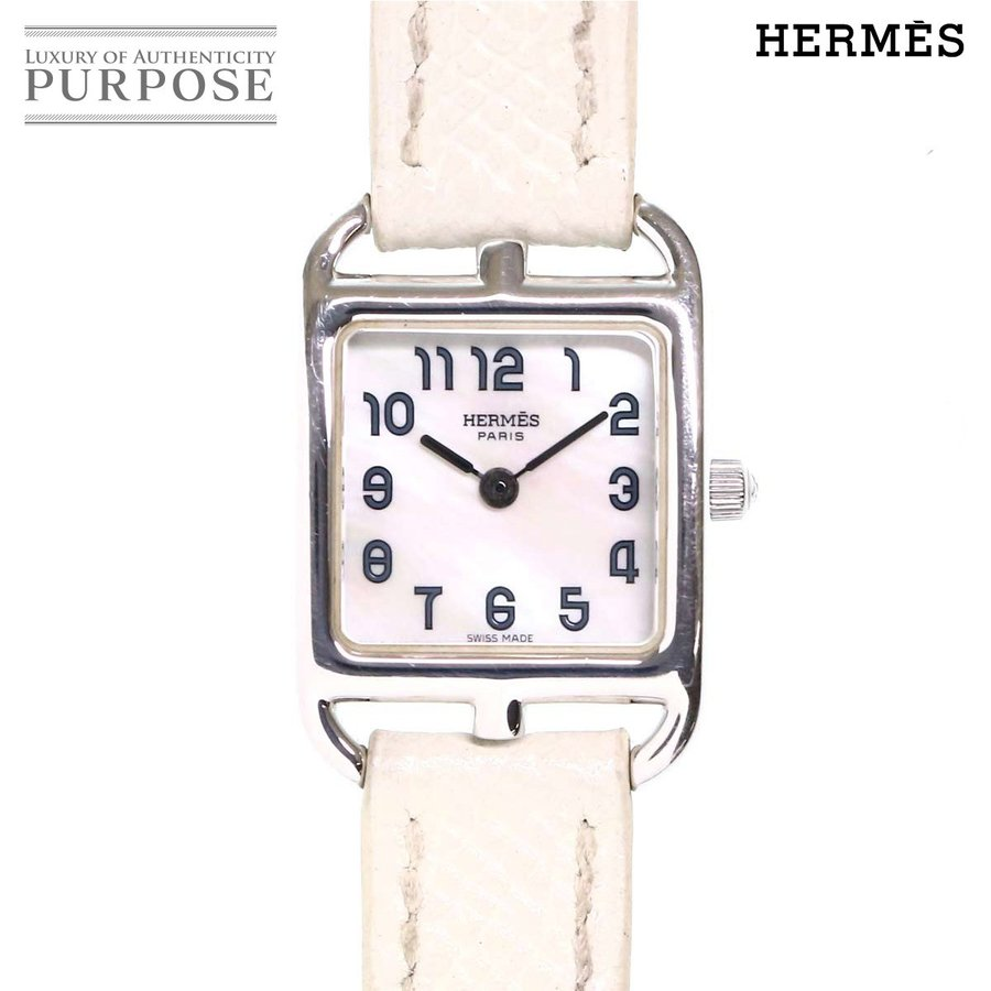 高品質の激安 エルメス クォーツ HERMES レディース ケープコッド ドゥブルトゥール CC1 190 K18WG レディース 腕時計 腕時計 ホワイトシェル 文字盤 ホワイトゴールド クォーツ ウォッチ, kimono5298:abc47a9f --- airmodconsu.dominiotemporario.com