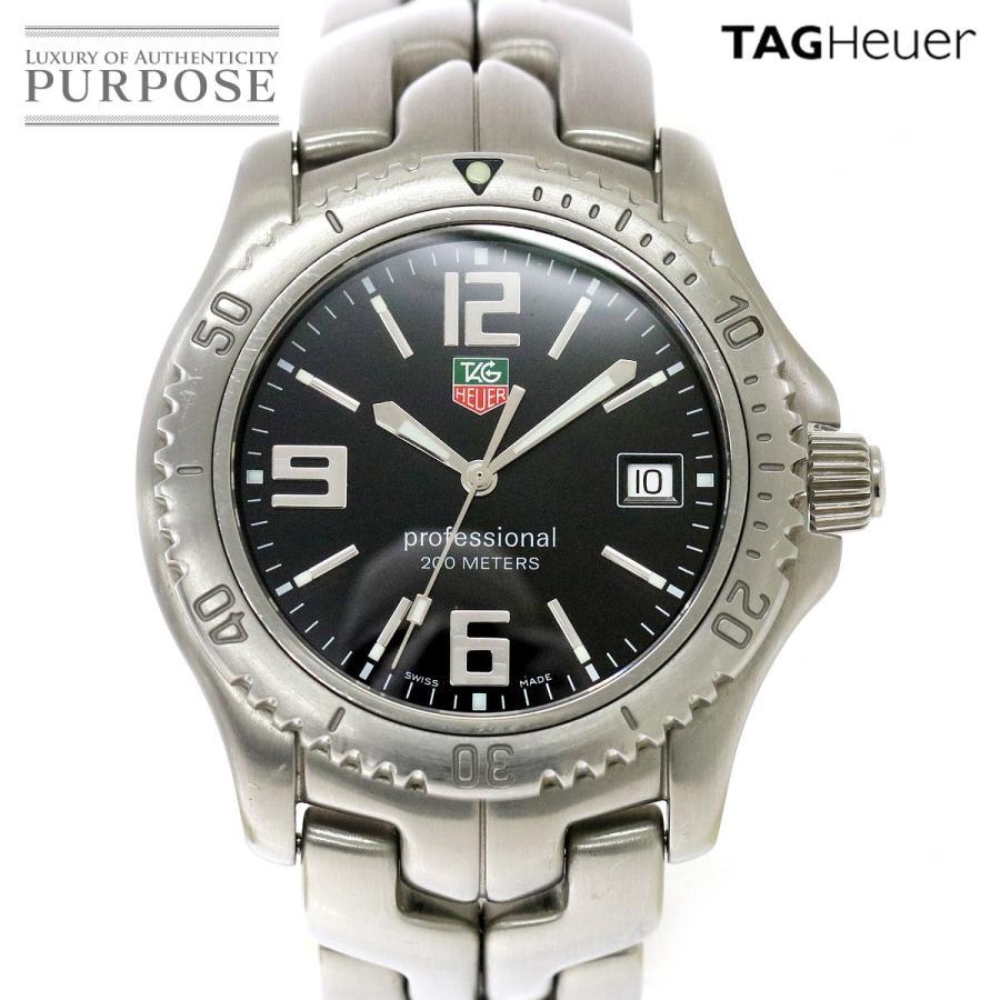 高価値 タグホイヤー TAG HEUER リンク プロフェッショナル WT1110 メンズ 腕時計 デイト ブラック 文字盤 クォーツ ウォッチ, 守谷市 996c7fc2