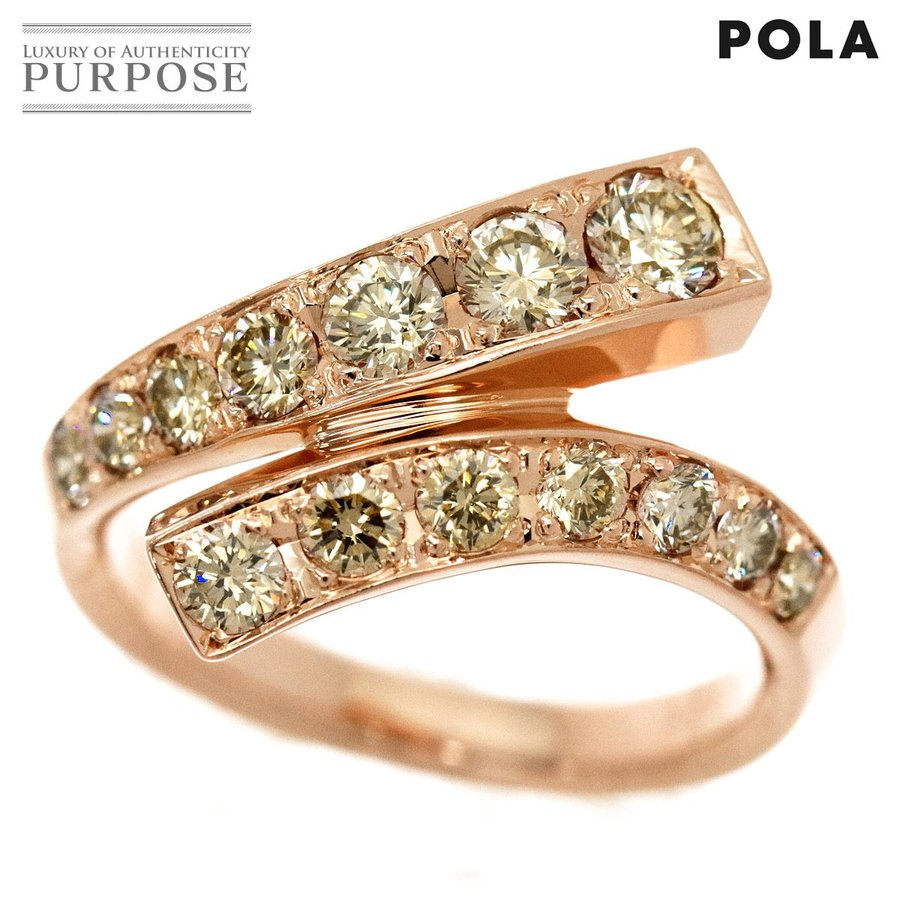 最初の  ポーラ POLA ダイヤ 1.25ct POLA リング 1.25ct 15号 K18PG ダイヤ 750 18金ピンクゴールド ダイア 指輪, ヨイチチョウ:98a73e44 --- airmodconsu.dominiotemporario.com