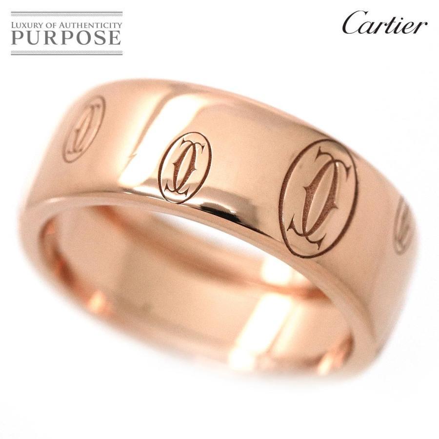 正規通販 カルティエ Cartier ハッピーバースデー #59 ロゴ リング K18PG 18金ピンクゴールド 750 指輪, 【半額】 22d7e784