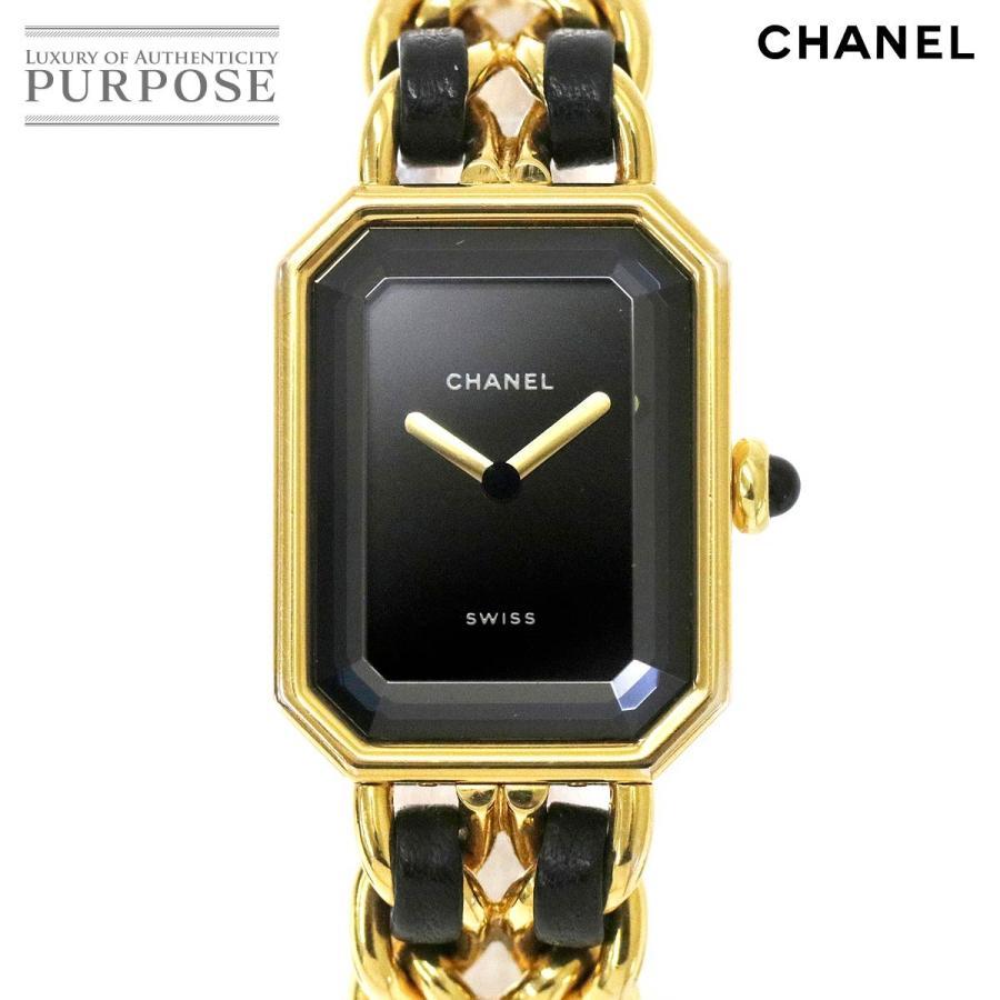【現金特価】 シャネル CHANEL プルミエール Lサイズ H0001 レディース 腕時計 ブラック 文字盤 ゴールド クォーツ ウォッチ, SELECTSHOP ARCHISS 012e7b20