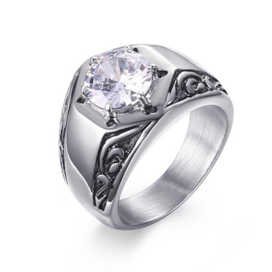 指輪 リング[ラッピング対応] PW 精良SUS316L製 ダイヤCZ シルバー銀色 キラキラ 魔法の六芒星 ダビデの星 ring /  幅14mm 14-28号 条件付送料無料61296|pwatch2014