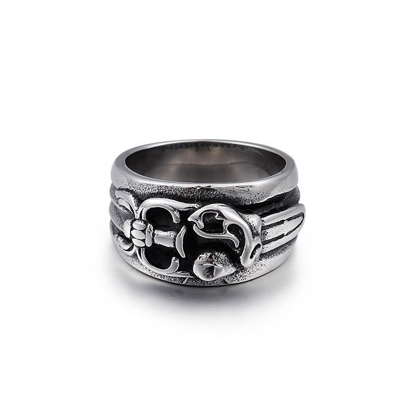 指輪 リング[ラッピング対応] PW 精良SUS316L製 シルバー銀色 クロムハーツ風 剣 ソード ring /  幅8m 16-26号 11g 条件付送料無料61349|pwatch2014|02