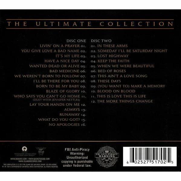 ボンジョヴィ ボンジョビ CD アルバム BON JOVI GREATEST HITS THE ULTIMATE COLLECTION 2枚組 輸入盤 ALBUM 送料無料 ボン・ジョヴィ qoo-online4-store 02