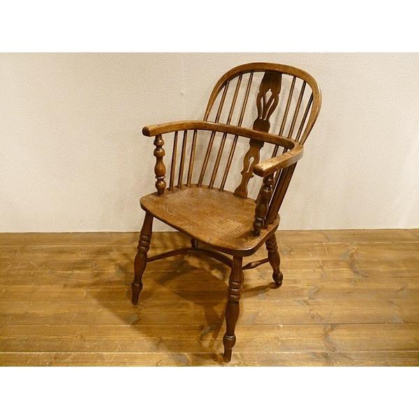 英国アンティーク 1850年代ビクトリアン ウィンザーチェア 5950R
