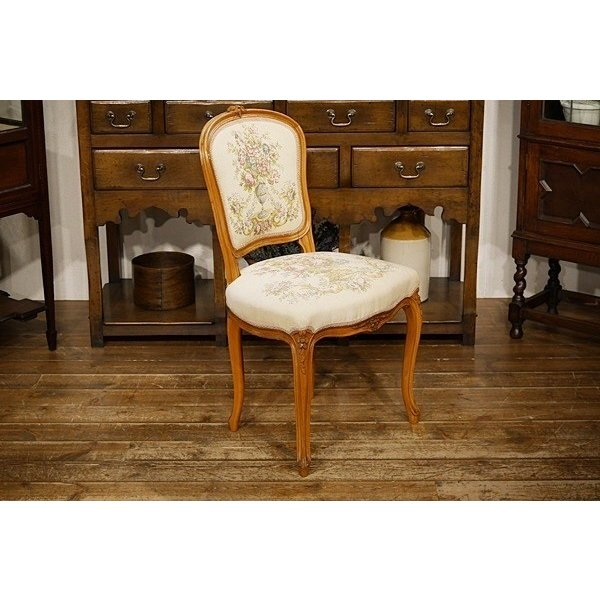 仏フランスアンティーク家具 猫脚 フレンチチェア サロンチェア ソファ ナチュラル カフェ カフェ 椅子 7771