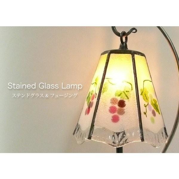 ステンドグラスの葡萄のランプ|qtsuhanshop
