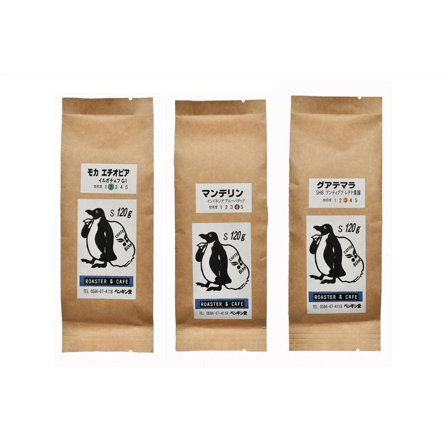 スペシャルティーコーヒー120g×3種類お試しセット【ペンギン堂】【ネコポス便・送料込】 qu-shop 11