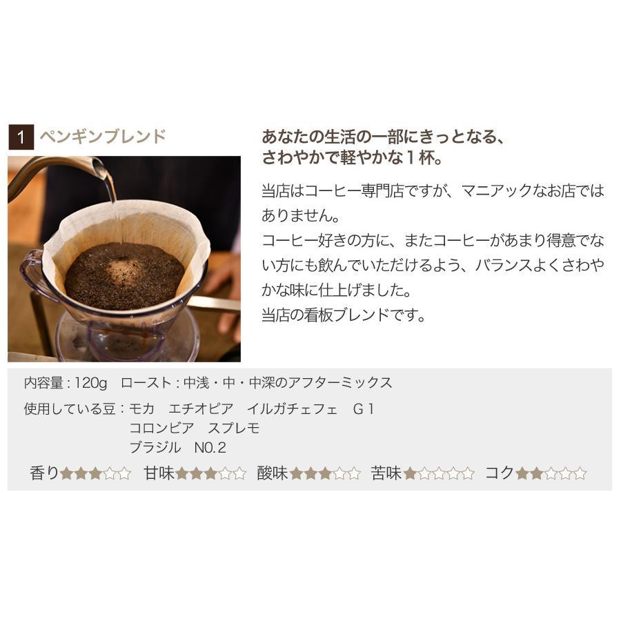 ペンギン堂からエールのブレンドコーヒー3種セット120g×3袋【ペンギン堂】【ネコポス便・送料込】 qu-shop 02