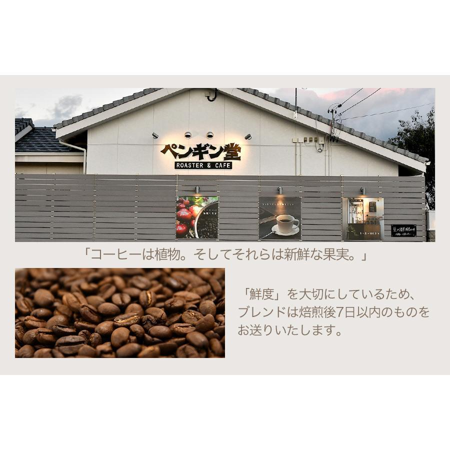 ペンギン堂からエールのブレンドコーヒー3種セット120g×3袋【ペンギン堂】【ネコポス便・送料込】 qu-shop 05
