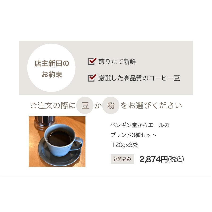 ペンギン堂からエールのブレンドコーヒー3種セット120g×3袋【ペンギン堂】【ネコポス便・送料込】 qu-shop 09