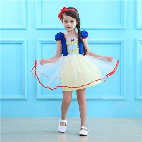 f8a4e97b4a466 W2 ディズニープリンセス 子供用ドレス キッズ白雪姫 ドレス ワンピース ...