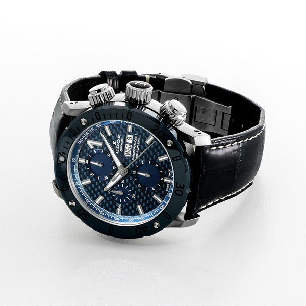 EDOX エドックス クロノオフショア1 クロノグラフオートマチック メンズ腕時計 送料無料 01122-3BU3-BUIN3-L   quelleheure-1 02