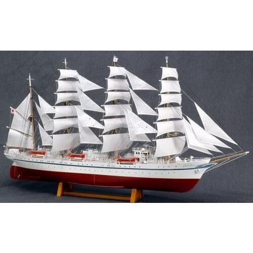 ウッディジョー 1/160 日本丸 帆付き 木製帆船模型 組立キット