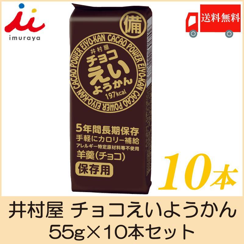 井村屋 チョコえいようかん 55g×10本セット 送料無料 ポイント消化