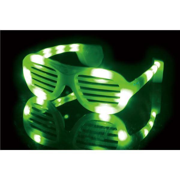 光るサングラス 〔グリーン〕 電池式 PC素材 『ELEX エレクトリック イーエックス』 〔コスプレ イベント〕