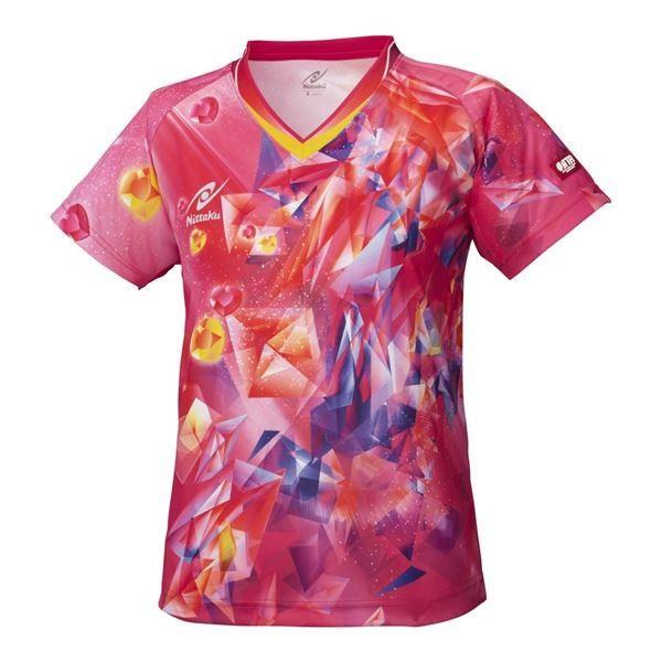ニッタク(Nittaku) 卓球アパレル SKYCRYSTAL SHIRT(スカイクリスタルシャツ) ゲームシャツ(女子用) NW2168 ピンク M