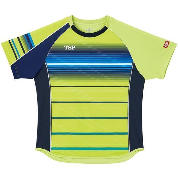 VICTAS TSP 卓球アパレル ゲームシャツ クラールシャツ 男女兼用 031428 ライム 2XL