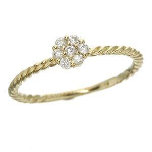 【国際ブランド】 K14イエローゴールド ダイヤリング 指輪 15号, ごっつプライス 6159534c