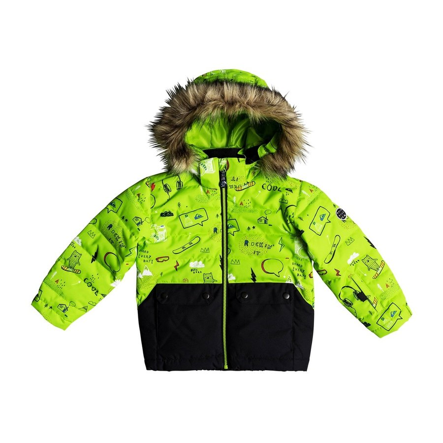 アウトレット価格 【30%OFF】クイックシルバー QUIK銀 EDGY KIDS JK スキー スノボ ジャケット