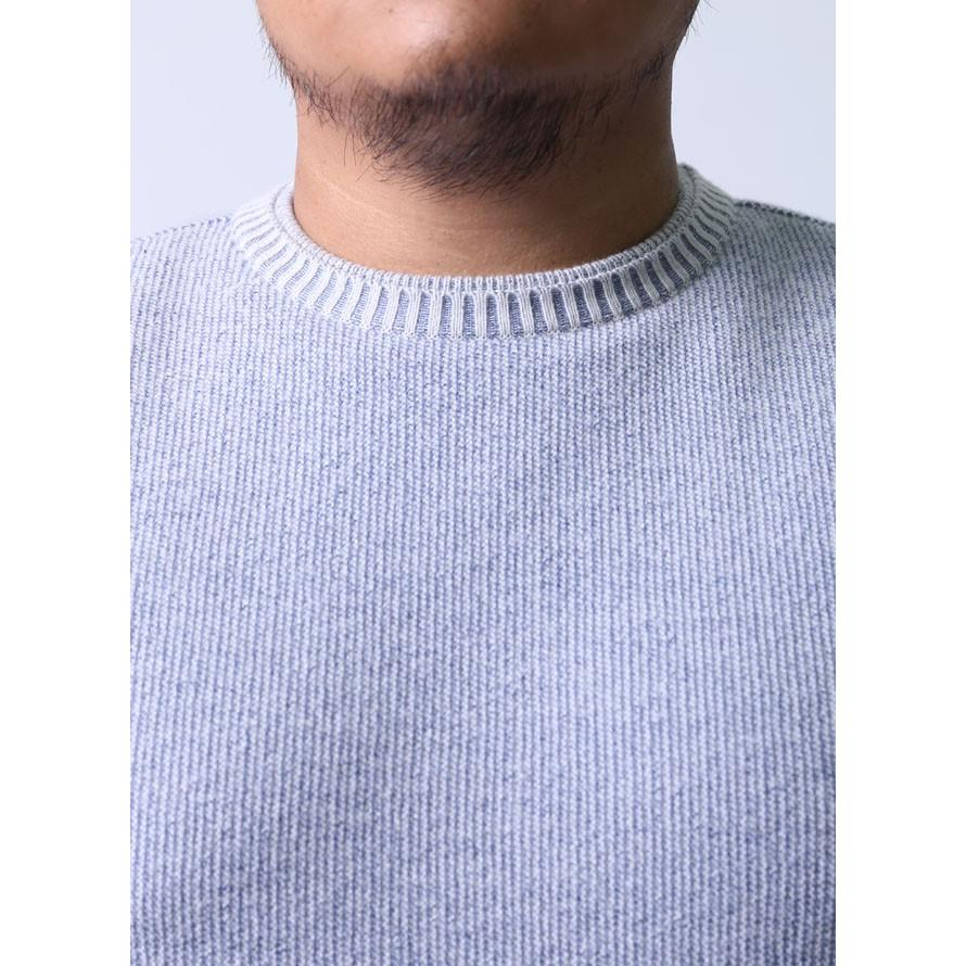 【大きいサイズメンズ】geegellan(ジーゲラン)シルク混色落ち風Uネッククルーネックニットセーター2L(50)/