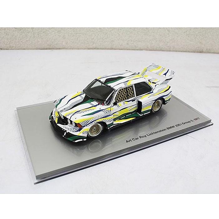 E3849NU 値下げ!【美品】ミニカー 京商 Art Car Roy Lichtenstein BMW 320i Group ビーエムダブリュー 1/18 ミニチュア コレクション ホビー